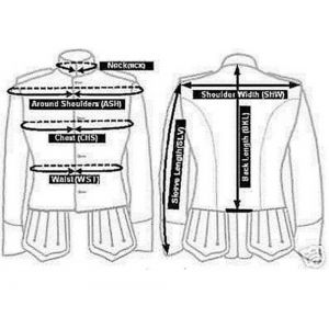 doublet jacket with silver braid and piping