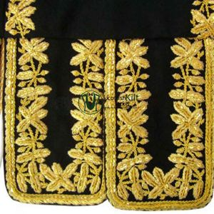 Doublet Jacket with Golden Hand Embroidery