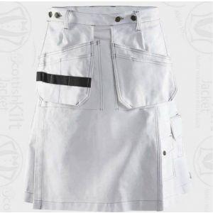 Utility White Kilt For Working Man
