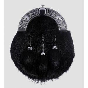 Kilt Leather Sporran black