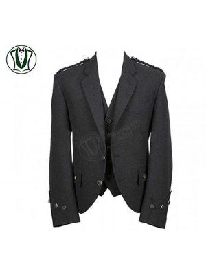 Argyle Tweed Kilt Jacket with Vest