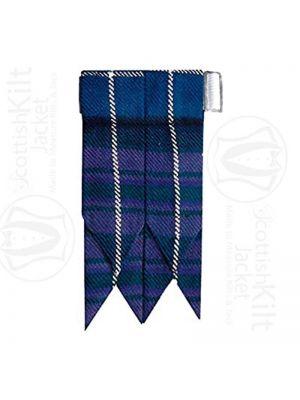 Scottish Flash Kilt Hose/Sock Flashes In Black Watch Tartans