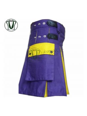 Utility Kilt in Blue and Yellow