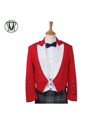 Red Prince Charlie Kilt Jacket